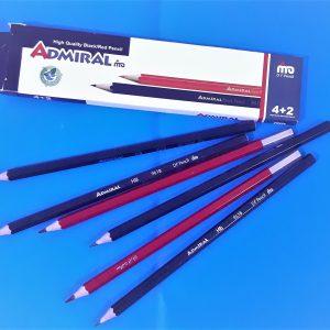 مداد 4+2 مشکی و قرمز