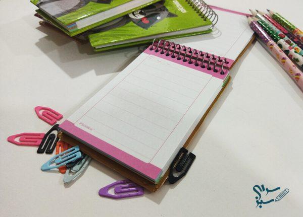 دفتر یادداشت فنری 80 برگ