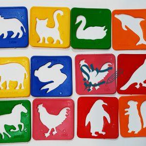 شابلون حیوانات بسته 12 عددی