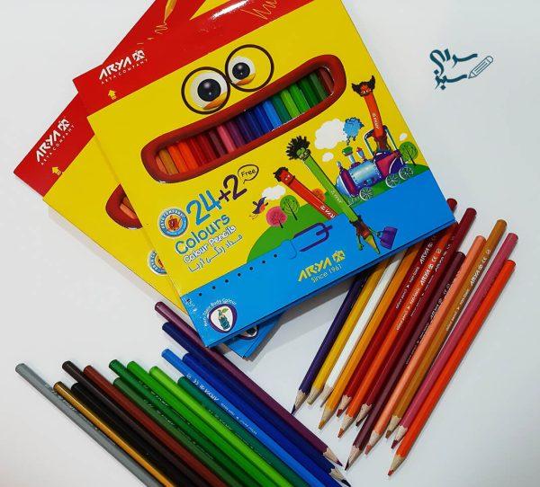مداد رنگی 26 رنگ آریا