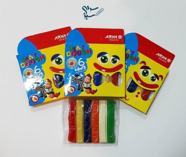 خمیر بازی 6 رنگ آریا یک سرکرمی سالم و مناسب برای کودک دلبند شما