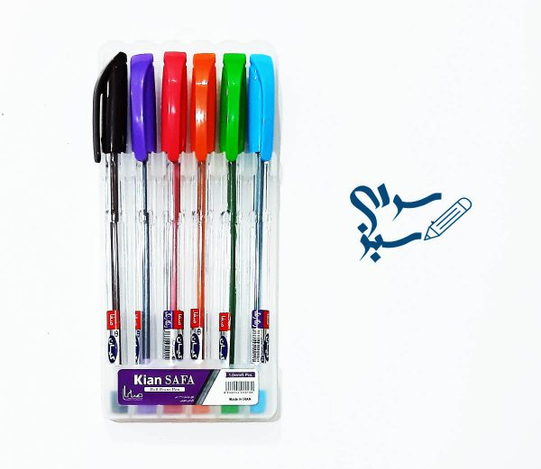 خودکار کیان بسته 6 عددی با رنگ های جذاب