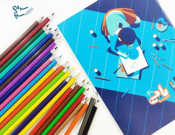 دفتر نقاشی 40 برگ منگنه ای