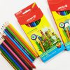 مداد رنگی 12 رنگ جعبه مقوایی آریا مدل 3016