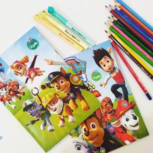 دفتر نقاشی 50 برگ ته چسب طرح فانتزی
